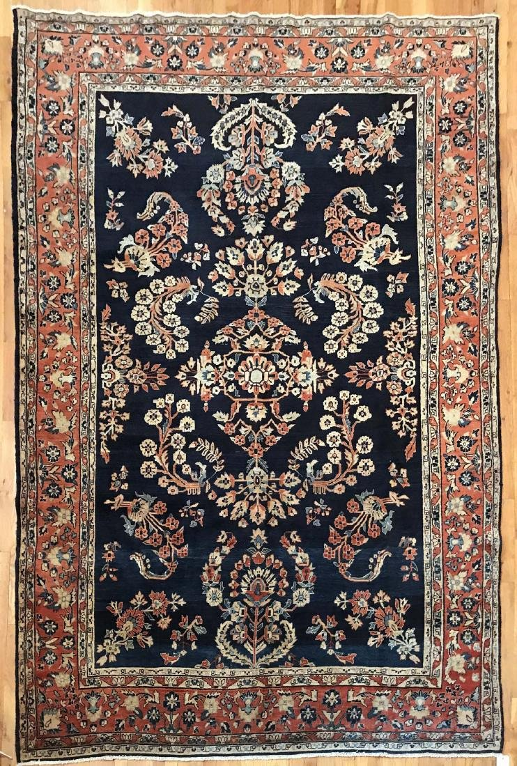 Antique Persian Sarouk Rug 7.2x10.10