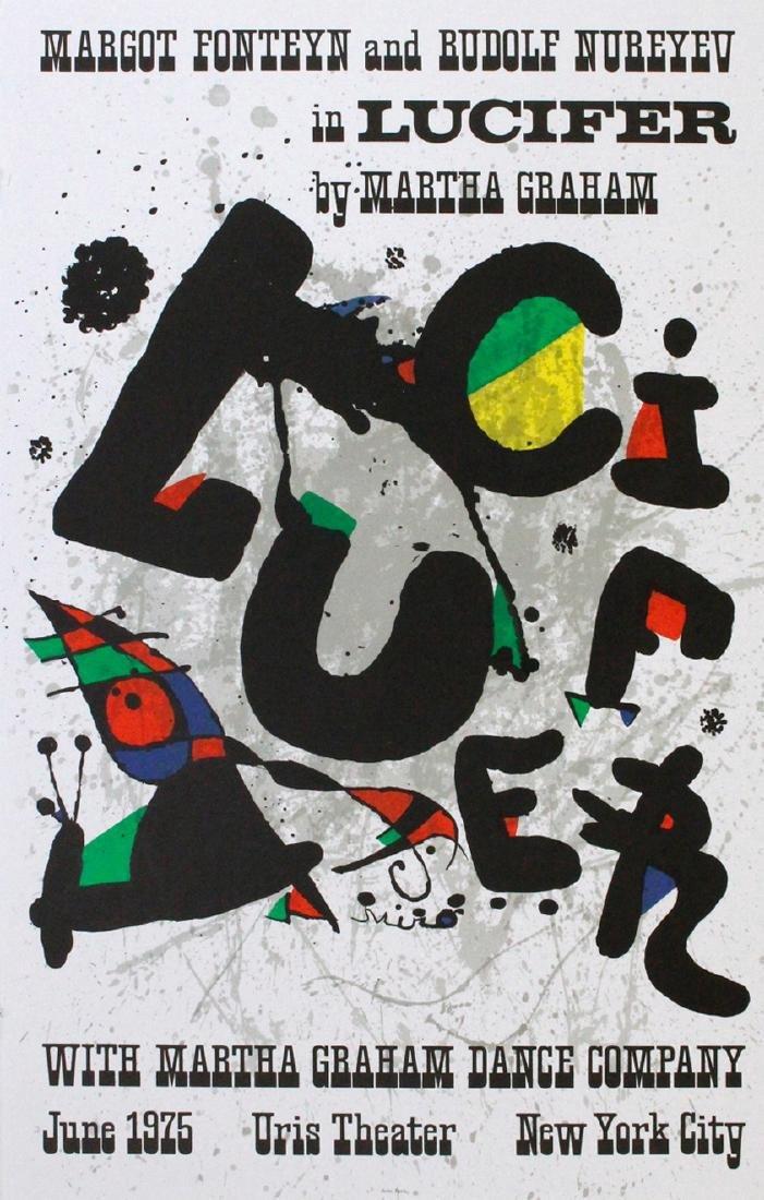 Joan Miró Lithograph Uris Theater
