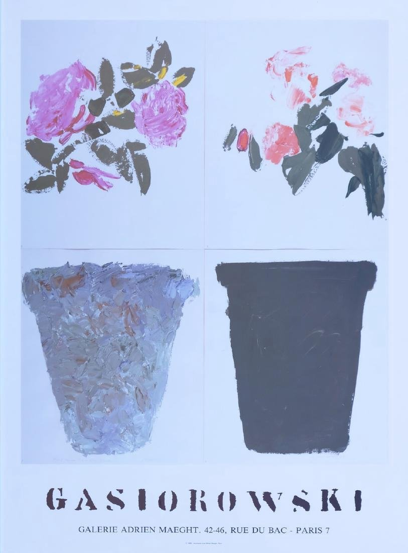 Gerard Gasirowsky Offset Print Flowers