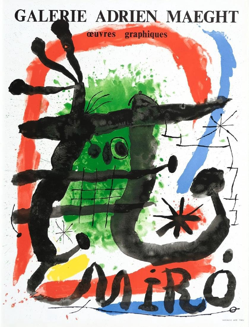 Joan Miró Lithograph Oeuvres Graphiques