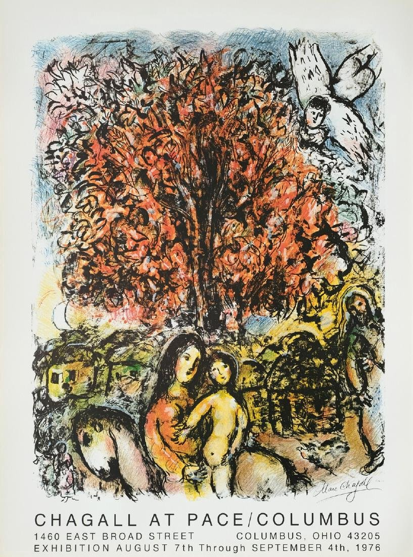 Marc Chagall Print Chagall at Pace 1976