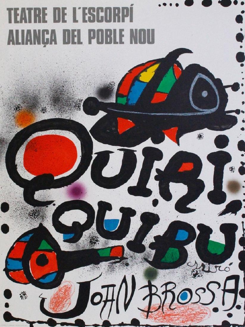 Joan Miró Lithograph Theatre de l'escorpi