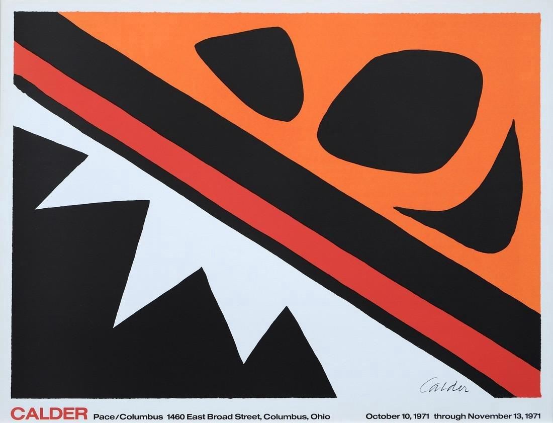 Alexander Calder Print Pace/Columbus 1977