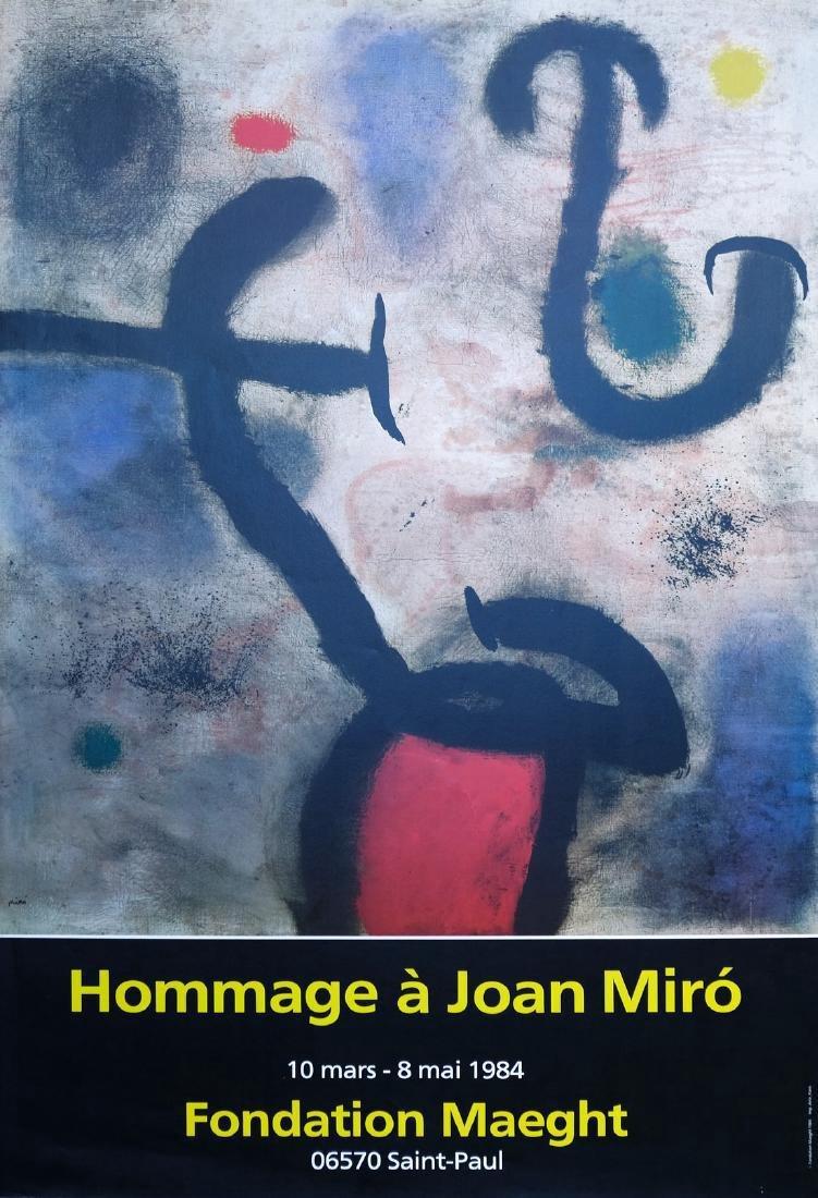 Joan Miro Offset Print Hommage à Joan Miro