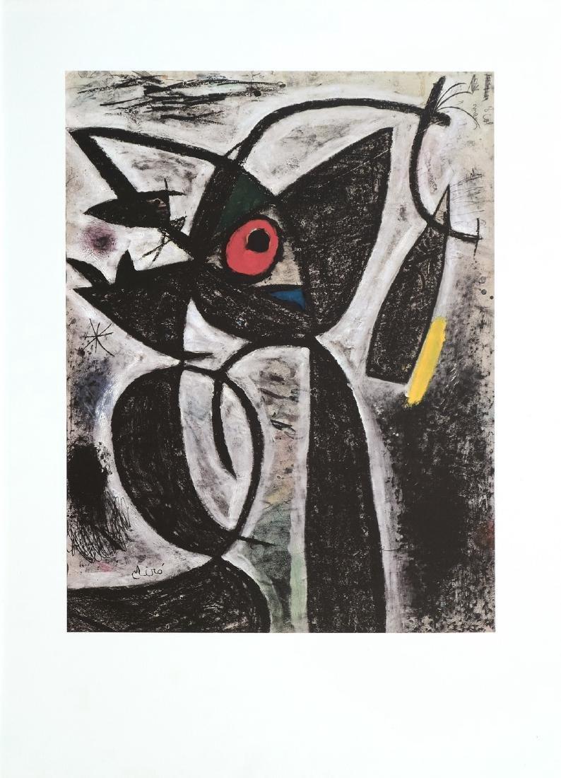 Joan Miro Print Le Sarrasins de l'etoile bleu