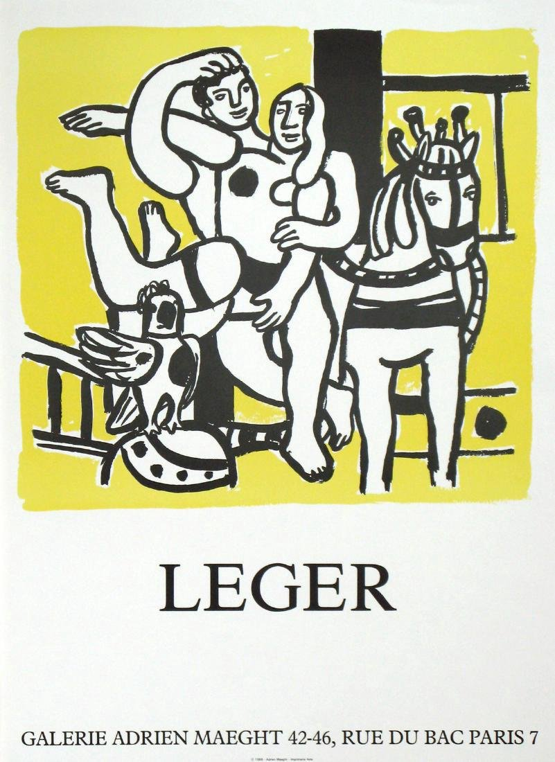Fernand Leger Lithograph Le Jeu