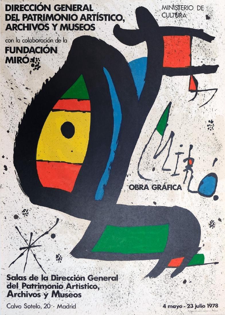 Joan Miro Lithograph Fundacion Miro