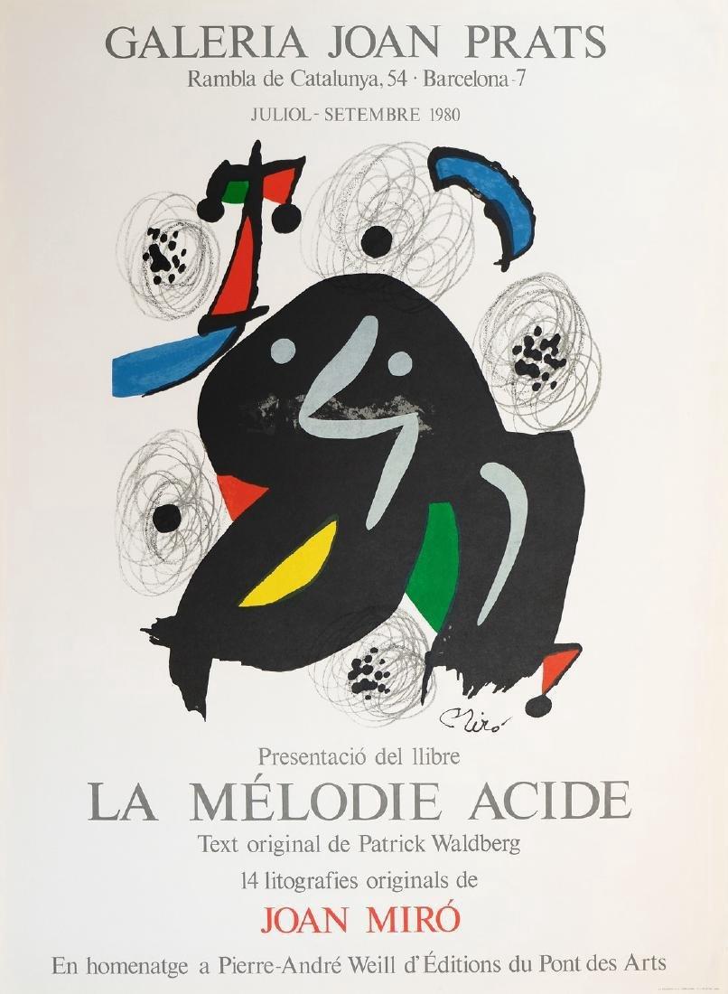 Joan Miro Lithograph La Melodie Acide