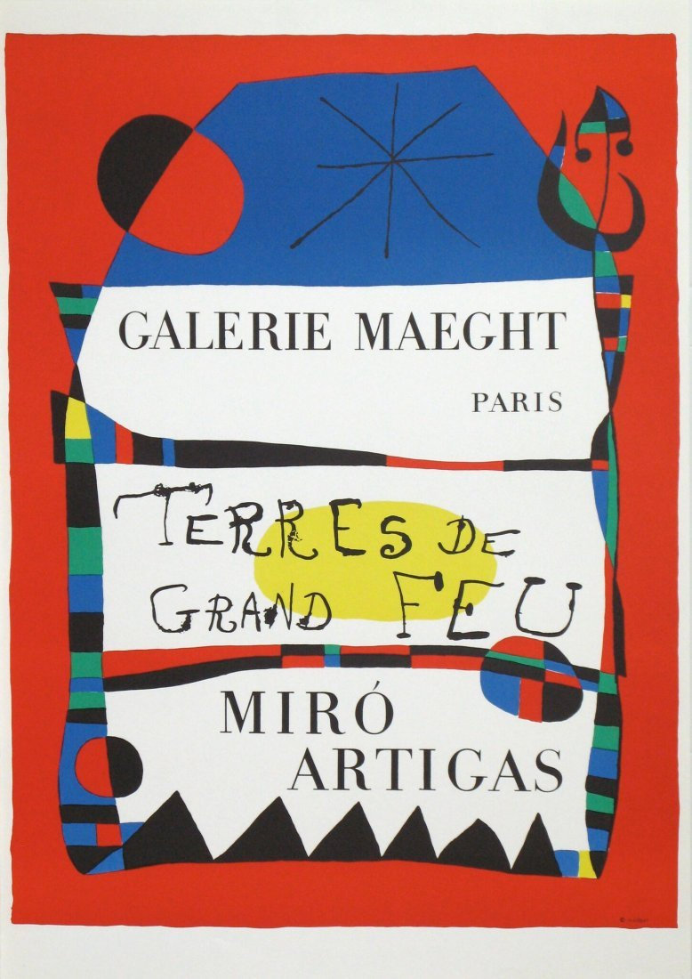 Joan Miro Lithograph Terre de grand Feu