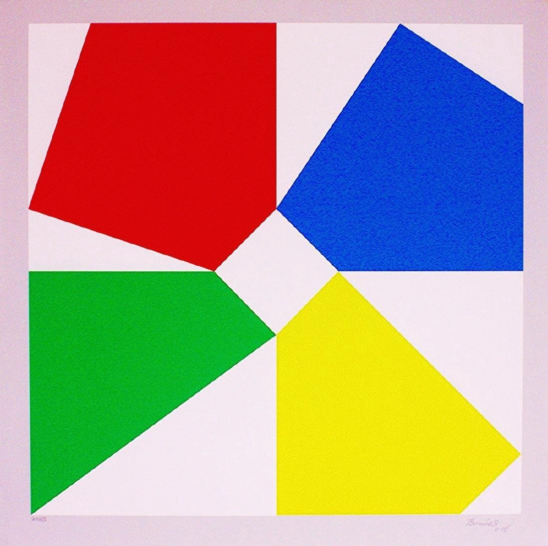 Bob Bonies Geometrische Constructivistische Hand Signed