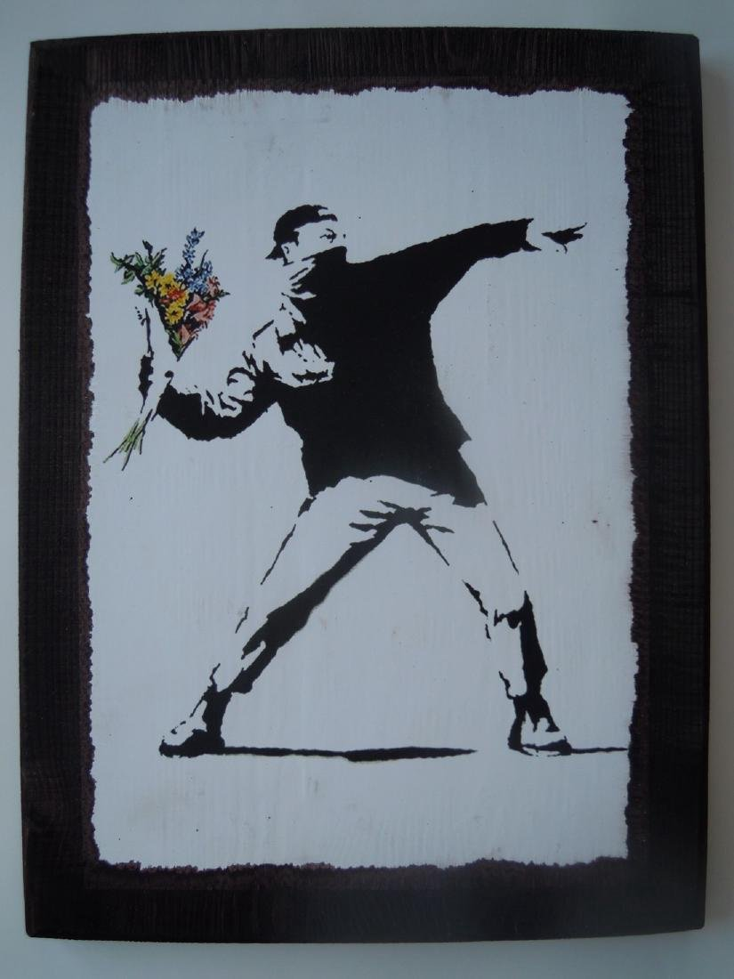 Banksy Woodblock and Collectibles Lot from Palestine