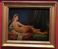 The Grand Odalisque Painting After Jean A. D. Ingres