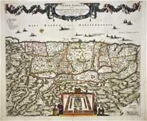 de Wit Antique Map of Holy Land 1680