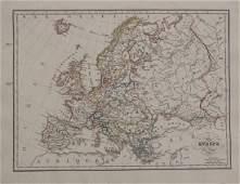 1829 Malte-Brun Map of Europe in 1829 -- Europe en 1829