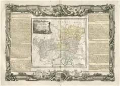 de la Tour: Antique Map of Austria & Slovenia, 1771