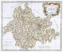 d'Anville / du Halde: Map of Yun-nan Province, China