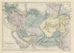 Sidney Hall: Antique Map of Persia & Afghanistan, 1856