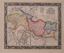 1860 Mitchell Map of Turkey, Persia, Afganistan -- Map