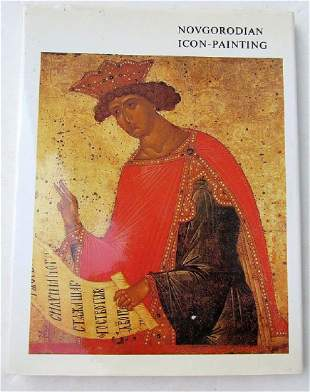 NOVGORODIAN ICON PAINTING LARGE RUSSIAN REFERENCE ART