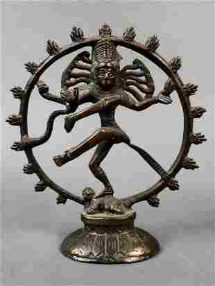 "Four-armed Shiva dances the sacred ""Cosmic Dance"""