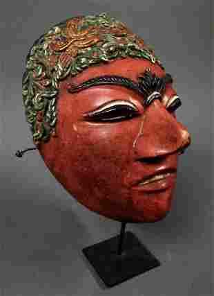 Fine old Javanese theatre mask Indonesia