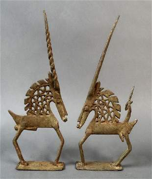 The antelope-masks danced by couple