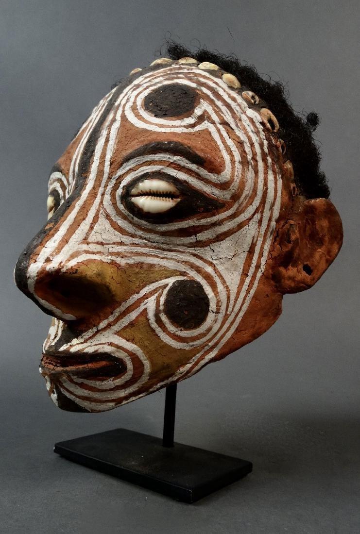 Modeled skull, Middle Sepik, Papua New Guinea, Saw