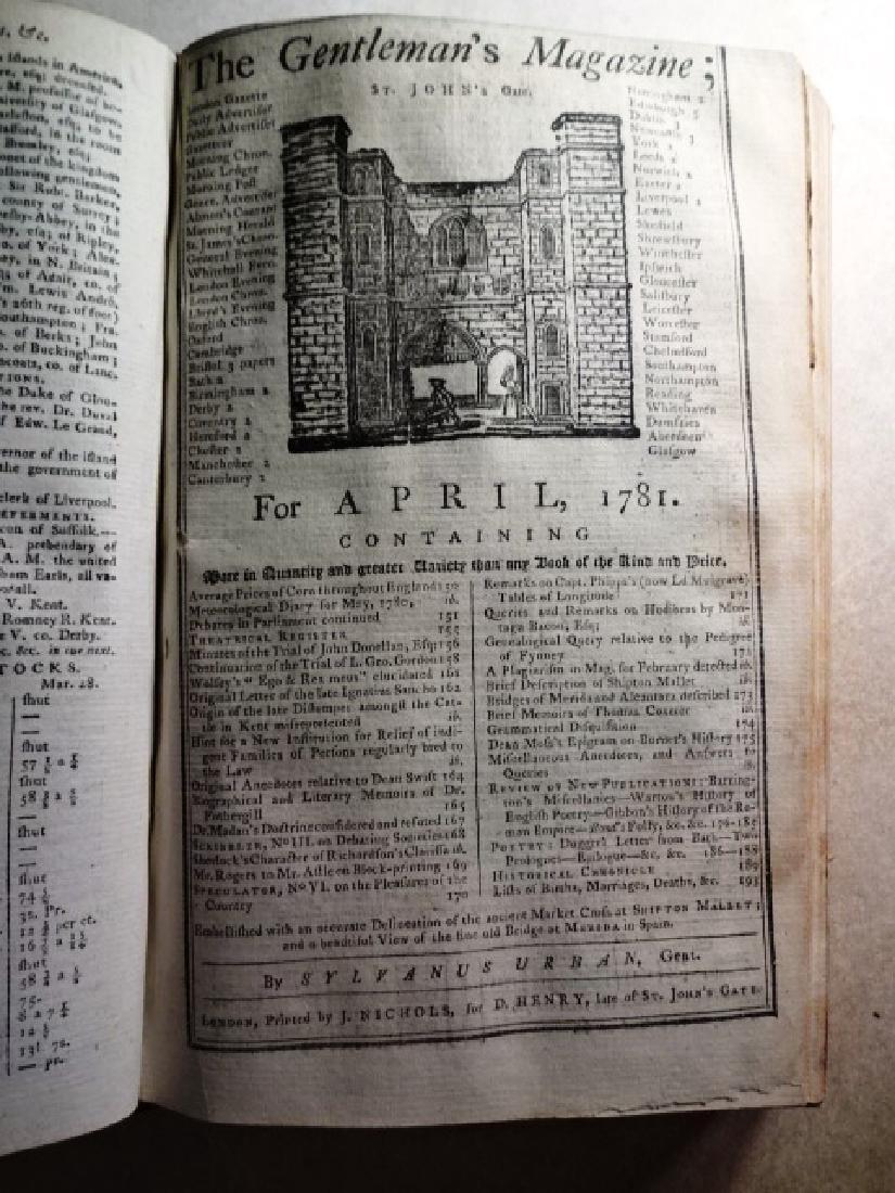 1781 Volume Gentleman Magazine Revolutionary War Plates - 5