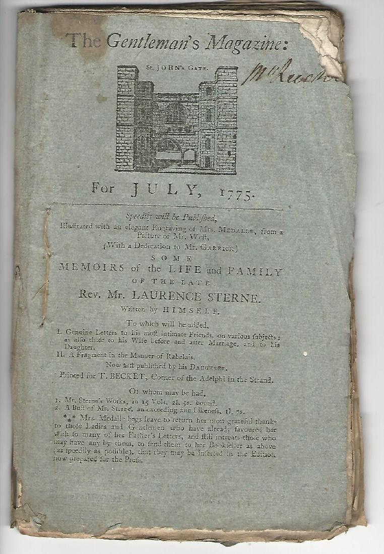 1775 Magazine Account of Bunker Hill Revolutionary War