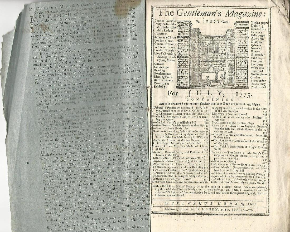 1775 Magazine Account of Bunker Hill Revolutionary War - 3