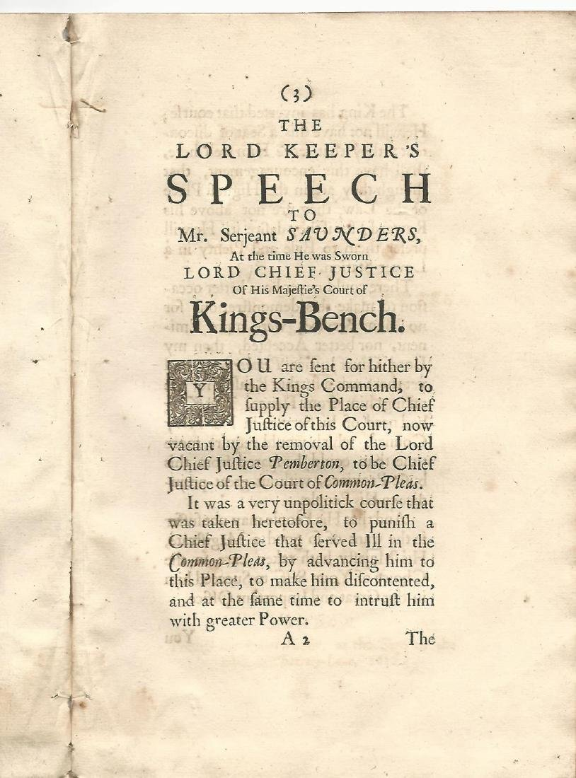 1682 The Lord Keeper's speech to Mr. Serjeant Saunders - 2