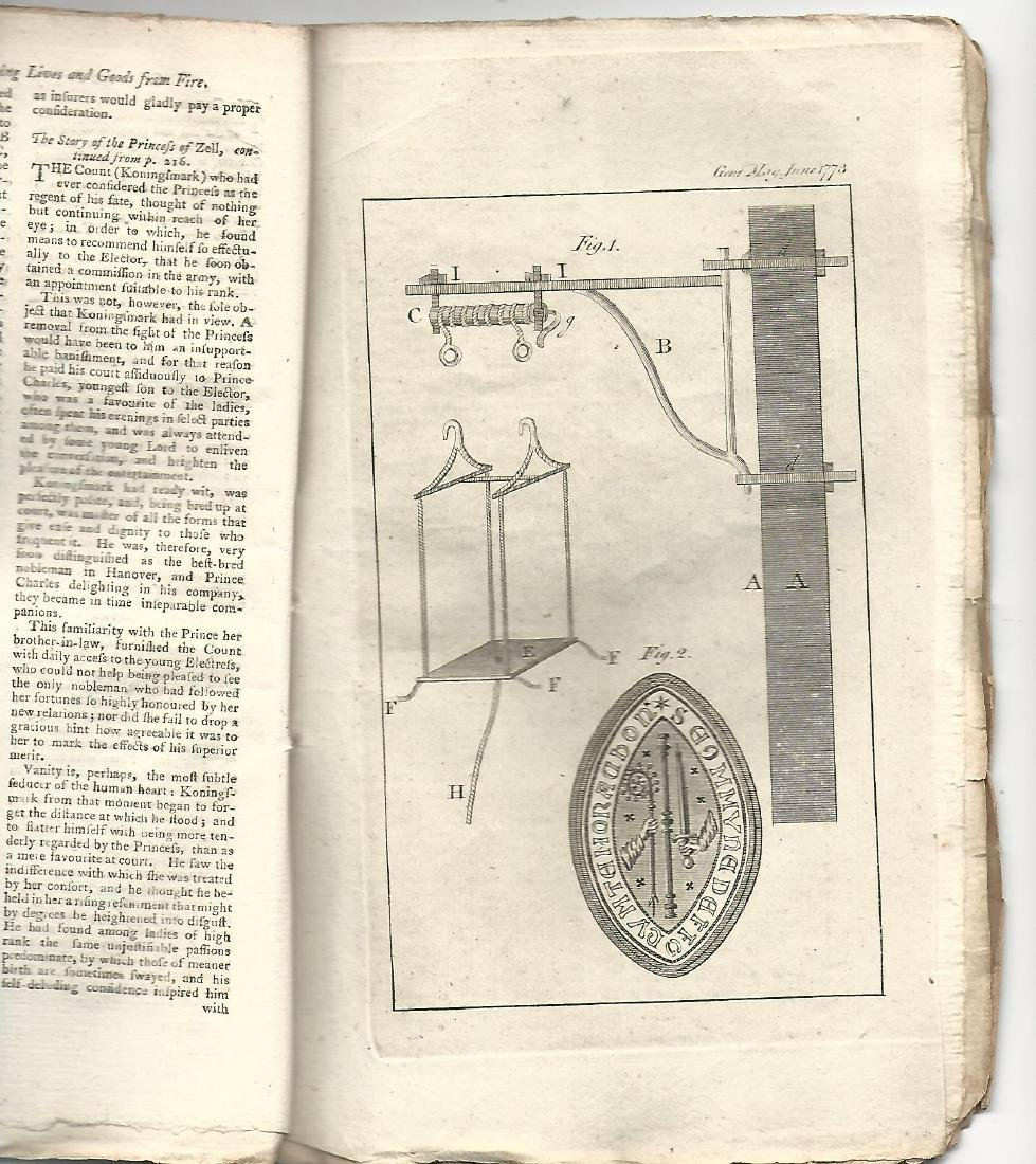 1773 Gentleman's Magazine w/ Two Engravings - 2