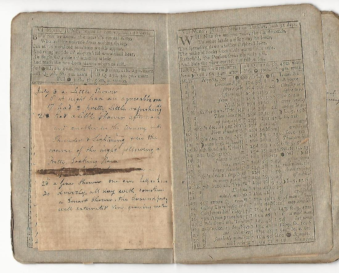 1806 Stoddard Diary w/ Manuscript Notes Coffin Family - 2