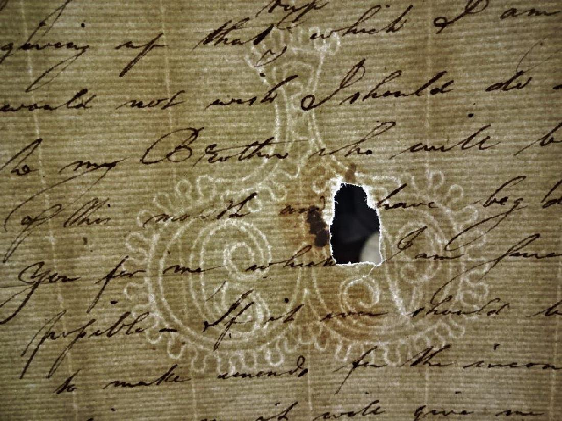 c1750 Colonial Letter w/ Watermark - 2