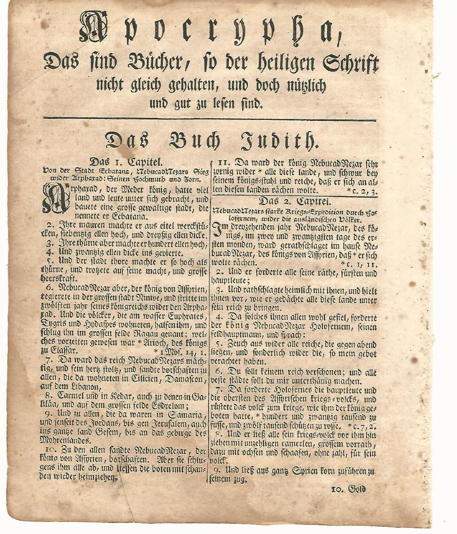 1776 Revolutionary War Gun-Wad Bible Leaf