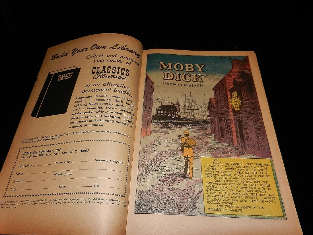 Classics Illustrated Moby Dick #5 1965 - 2