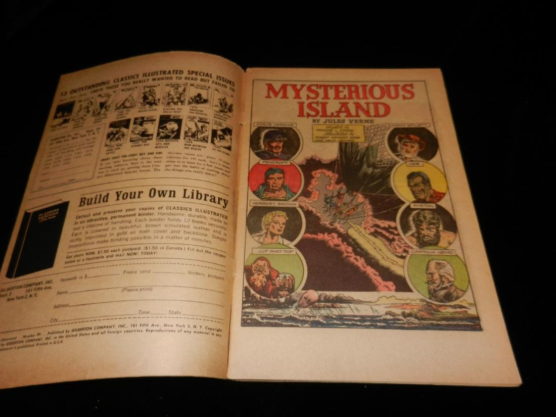 Classic illustrated The Mysterious Island # 34 1964 - 2