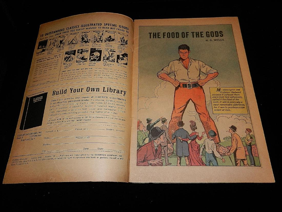 Classics Illustrated #160 the Food of the Gods 1964 - 2