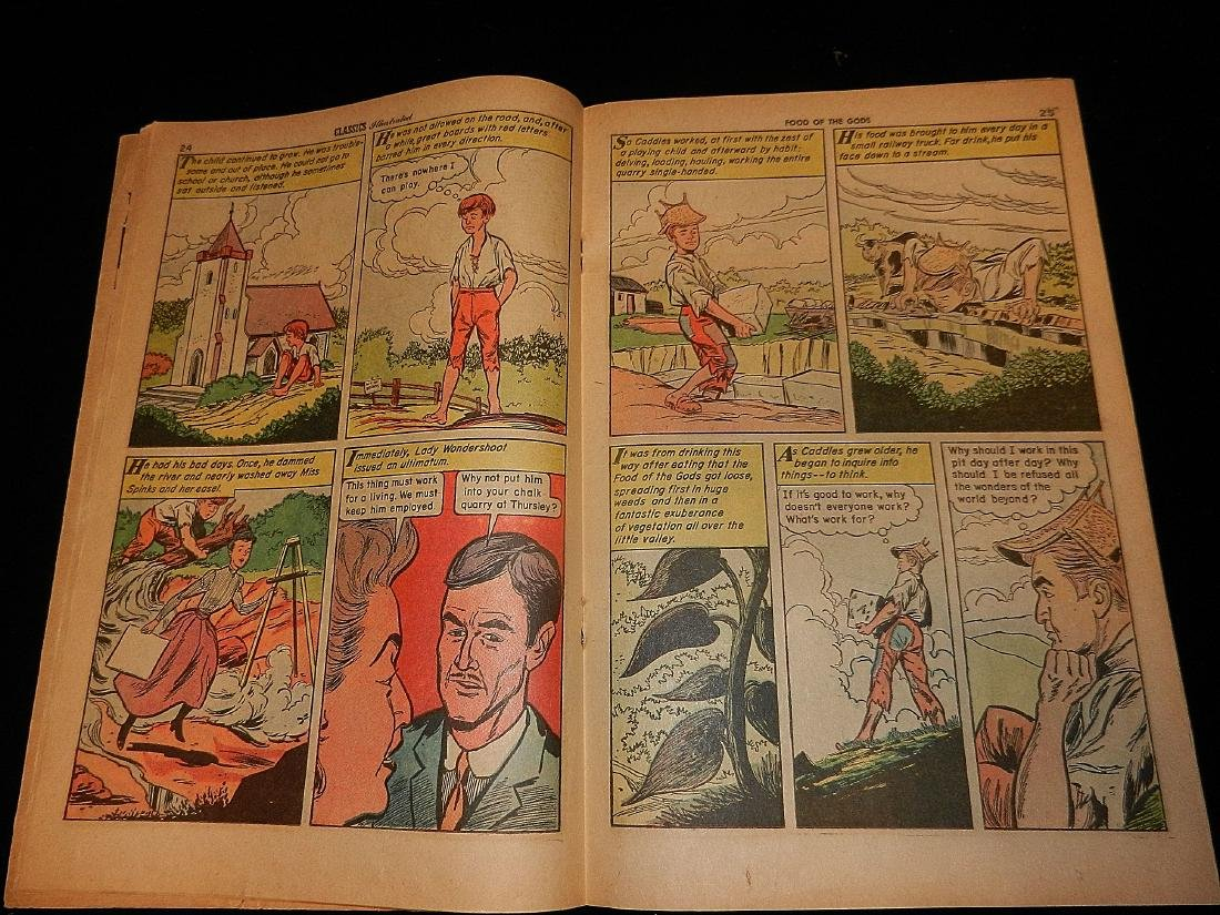 Classics Illustrated #160 the Food of the Gods 1964 - 3