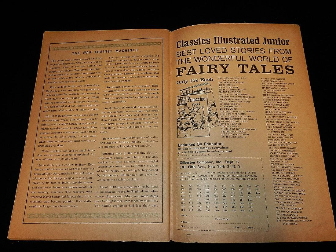 Classics Illustrated #160 the Food of the Gods 1964 - 4