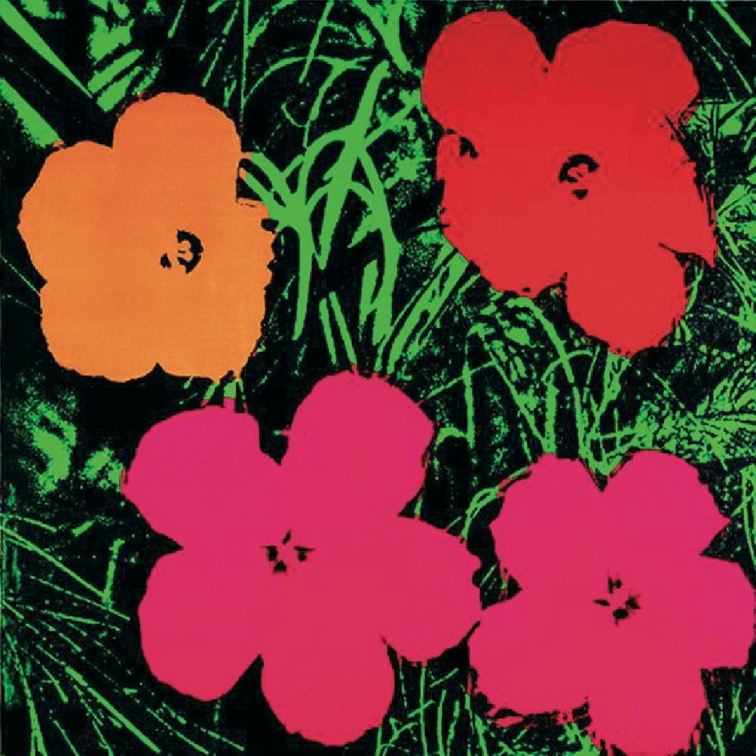 Andy Warhol Offset Lithograph Flowers (sm)