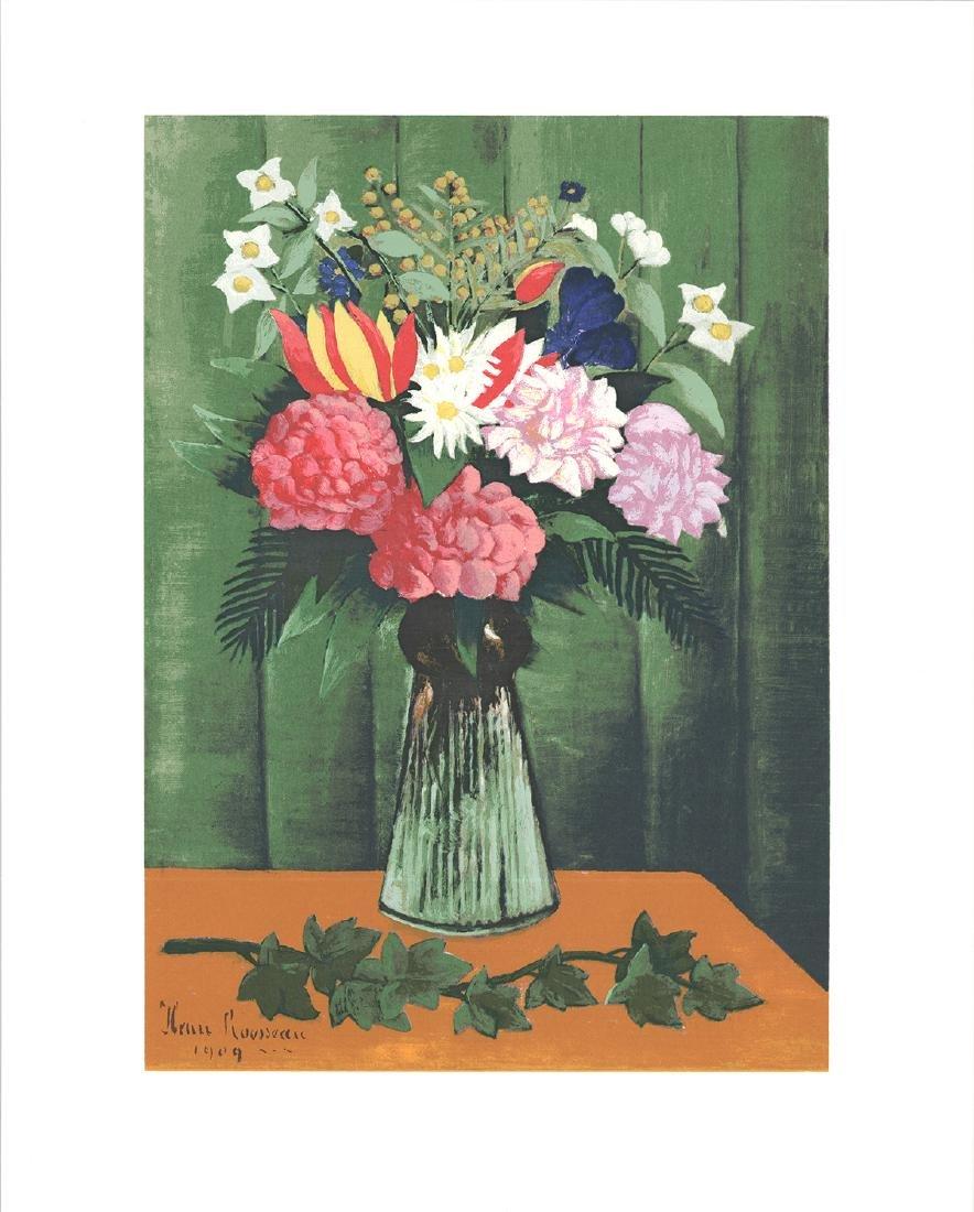 Henri Rousseau Serigraph Flowers in Vase