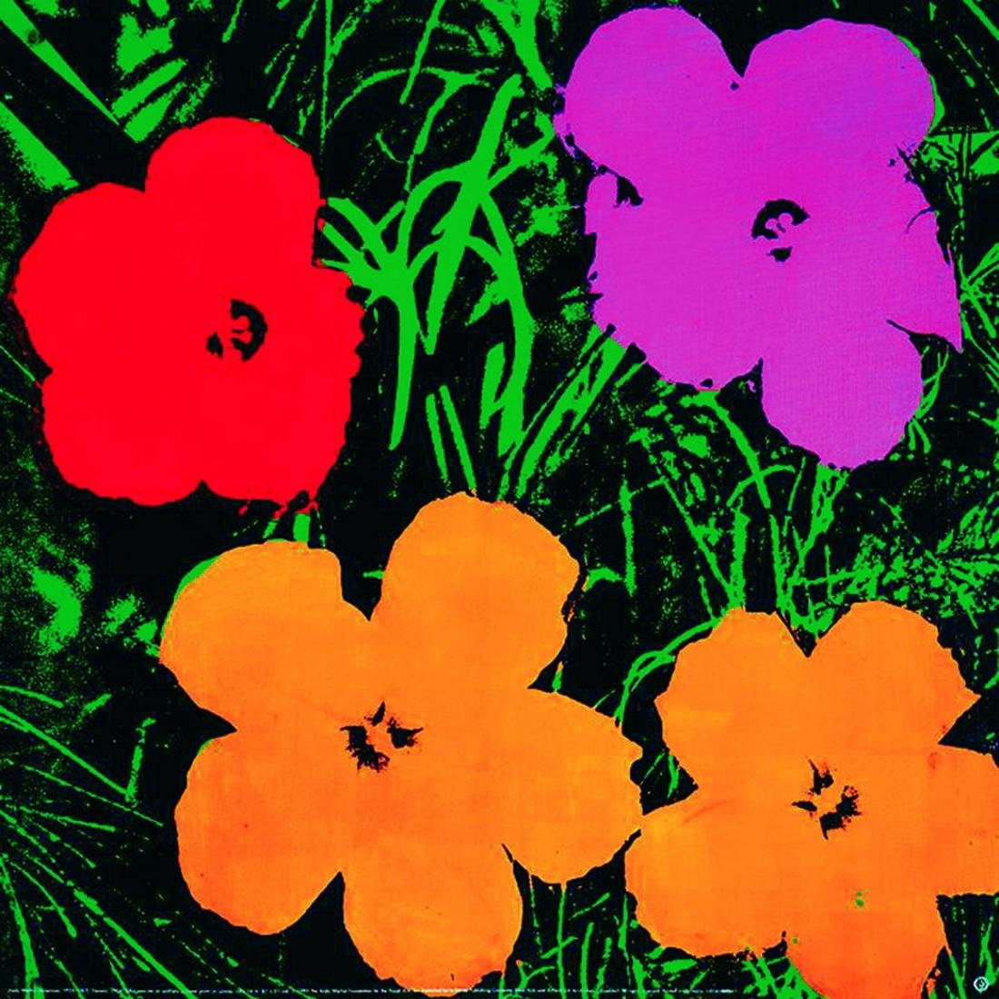 Andy Warhol Offset Lithograph Flowers (Lg)
