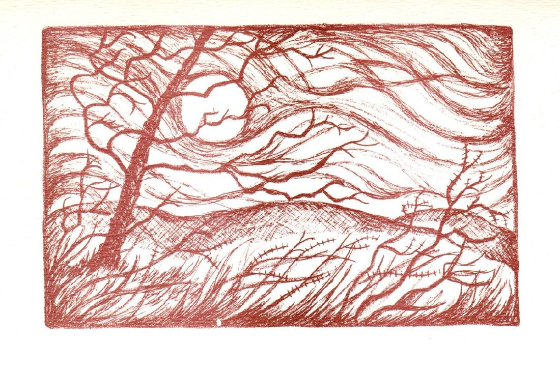 Ruth Stolle Lithograph March Winds