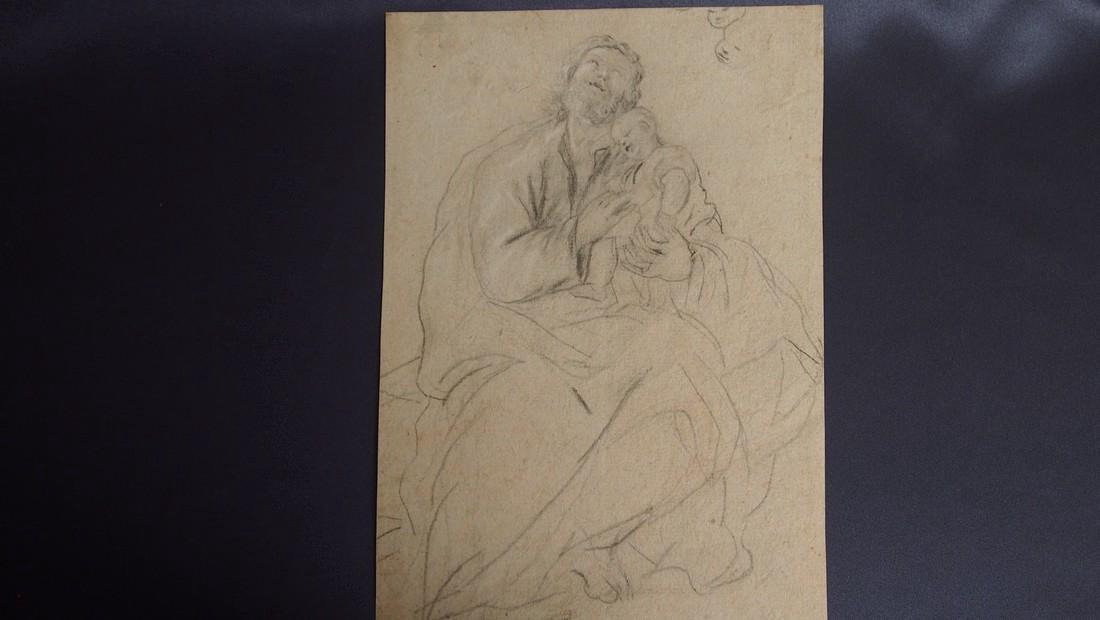 Carlo Maratta, Attrib. Baroque St. Joseph With Jesus