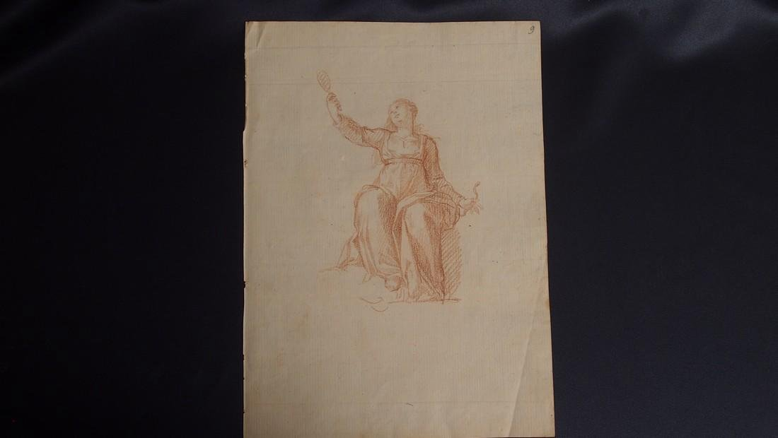 European 17th Century Red Chalk Drawing