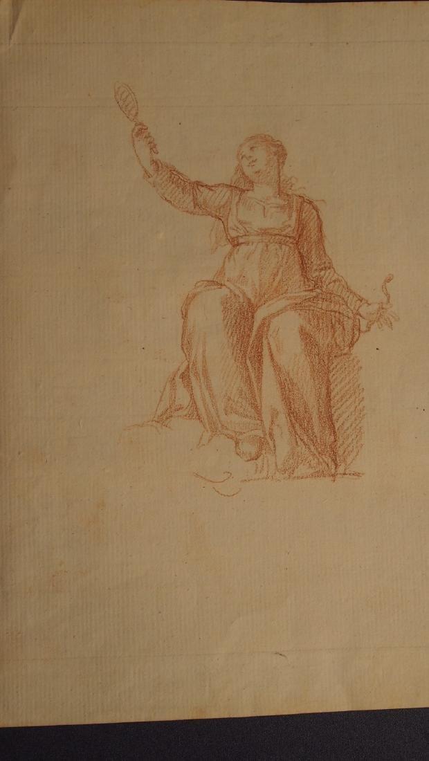 European 17th Century Red Chalk Drawing - 2