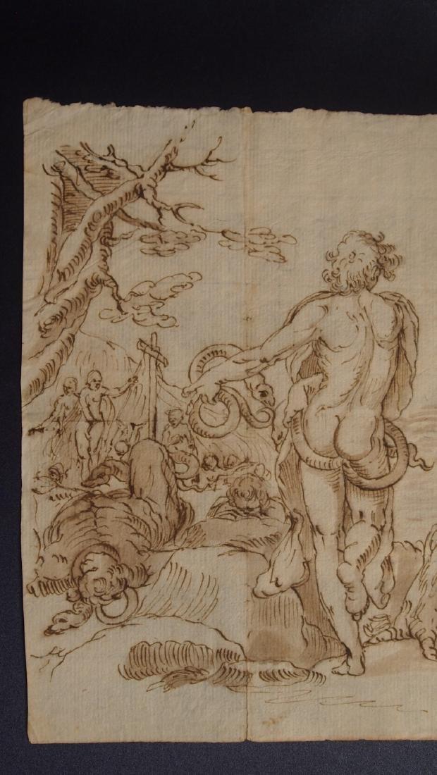 Luca Cambiaso, Attrib. Satan Tempting Man - 2