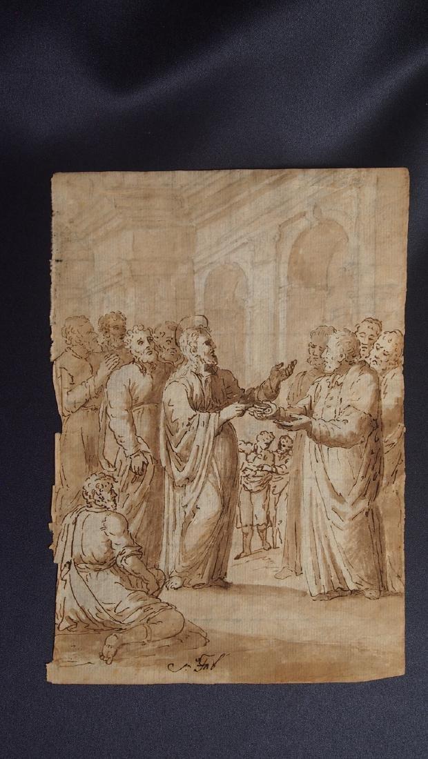 Jacopo Bassano, Attrib. Jesus in Temple Money Exchange