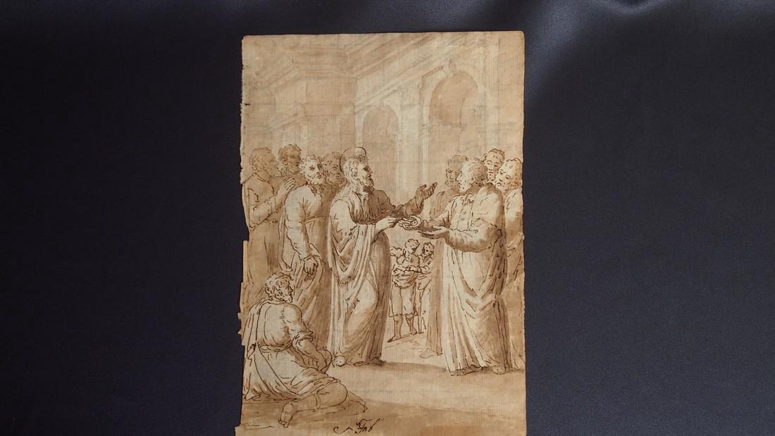 Jacopo Bassano, Attrib. Jesus in Temple Money Exchange - 2